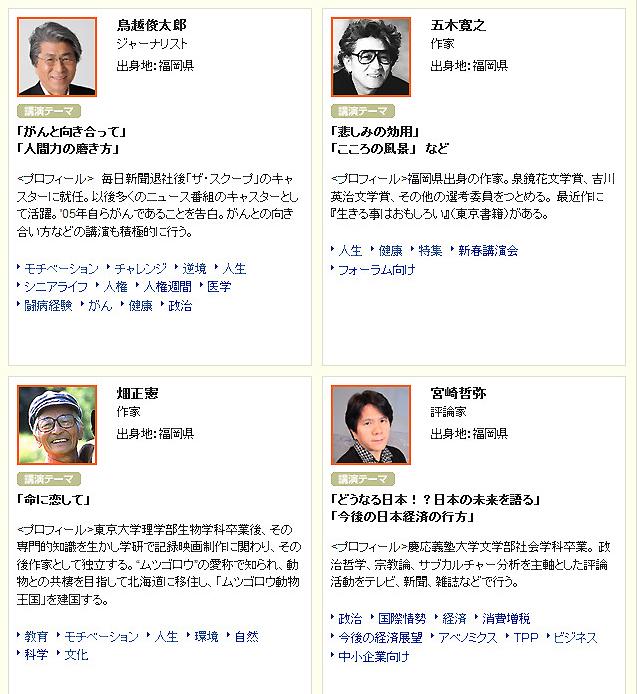 福岡ゆかりの講師