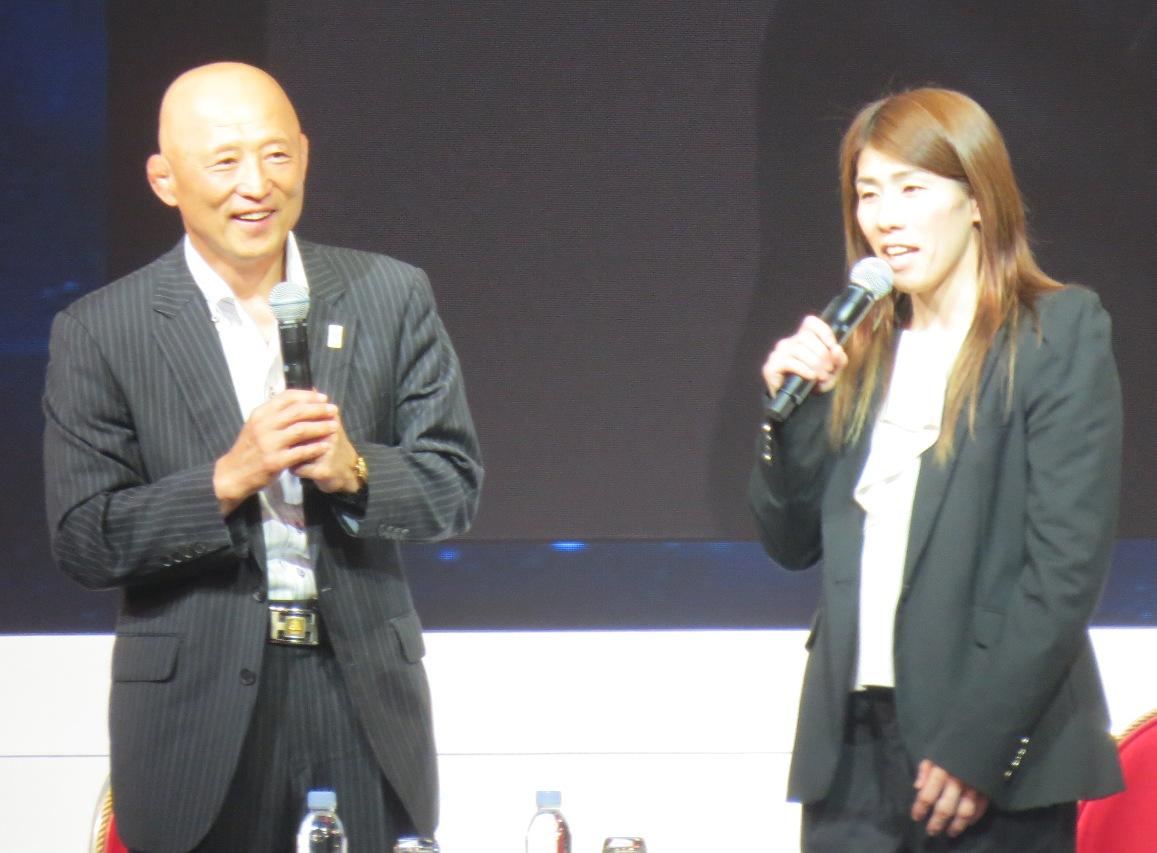 栄和人監督と吉田選手